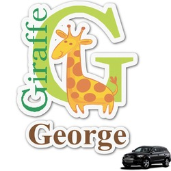 Animal Alphabet Graphic Car Decal (Personalized)
