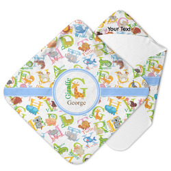 Animal Alphabet Hooded Baby Towel (Personalized)