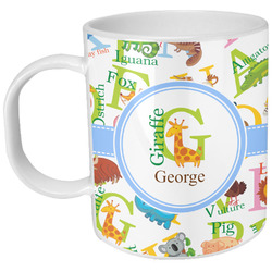 Animal Alphabet Plastic Kids Mug (Personalized)
