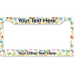 Animal Alphabet License Plate Frame (Personalized)