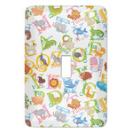 Animal Alphabet Light Switch Cover (Single Toggle) (Personalized)