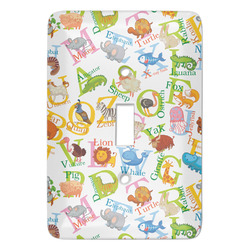 Animal Alphabet Light Switch Covers - Multiple Toggle Options Available (Personalized)