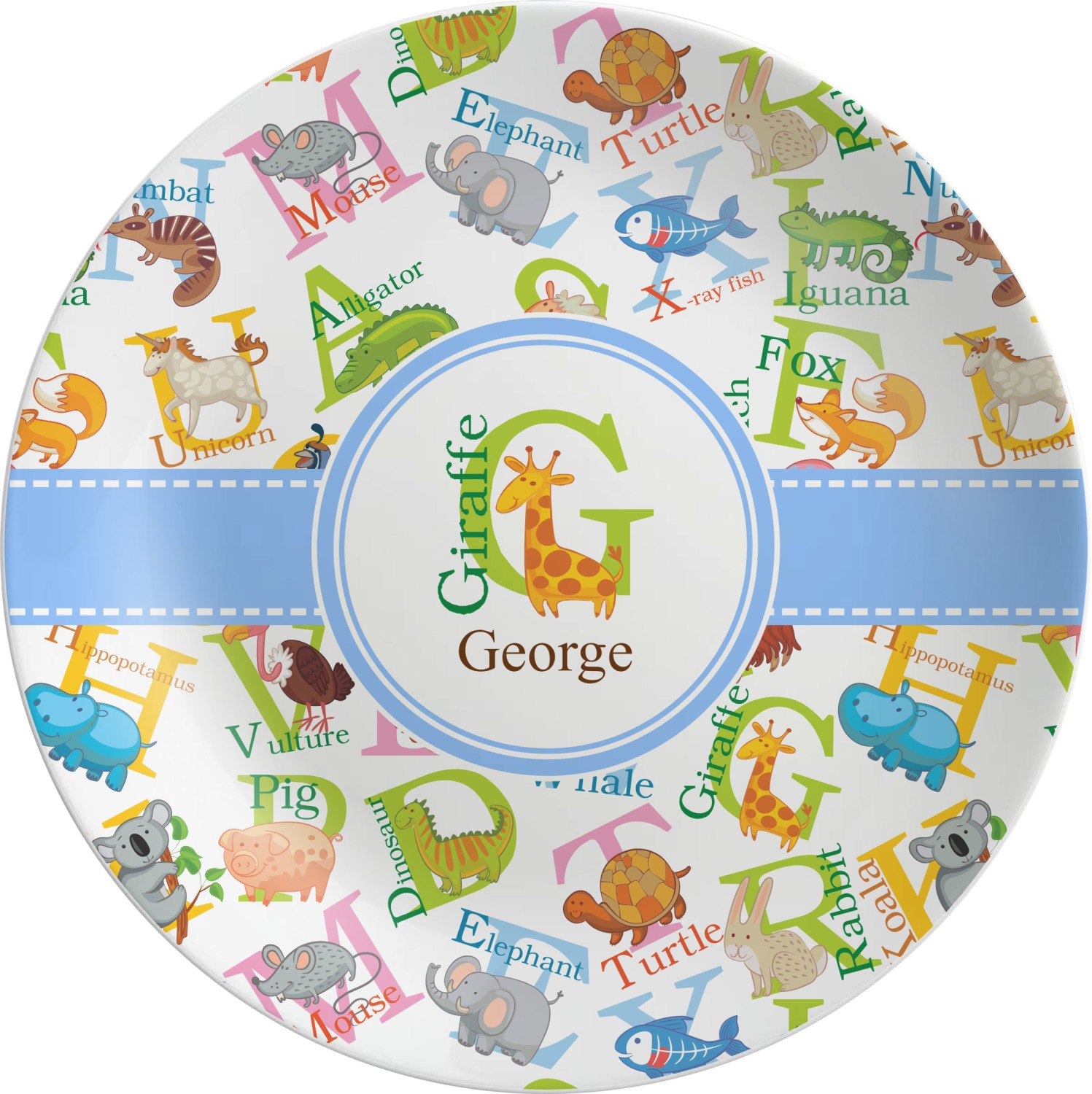 Animal Alphabet Melamine Plate (Personalized)  sc 1 st  YouCustomizeIt & Animal Alphabet Melamine Plate (Personalized) - YouCustomizeIt