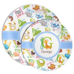Animal Alphabet Melamine Plate (Personalized)