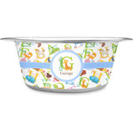 Animal Alphabet Stainless Steel Dog Bowl (Personalized)