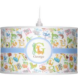 Animal Alphabet Drum Pendant Lamp (Personalized)