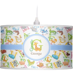 Animal Alphabet Drum Pendant Lamp (Personalized)