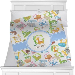"Animal Alphabet Fleece Blanket - Twin / Full - 80""x60"" - Double Sided (Personalized)"