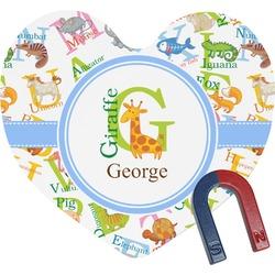 Animal Alphabet Heart Fridge Magnet (Personalized)