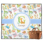 Animal Alphabet Outdoor Picnic Blanket (Personalized)