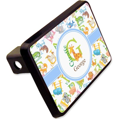 """Animal Alphabet Rectangular Trailer Hitch Cover - 2"""" (Personalized)"""
