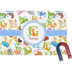 Animal Alphabet Rectangular Fridge Magnet (Personalized)