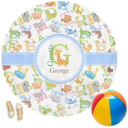 Animal Alphabet Round Beach Towel (Personalized)
