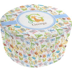 Animal Alphabet Round Pouf Ottoman (Personalized)
