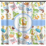 Animal Alphabet Shower Curtain (Personalized)