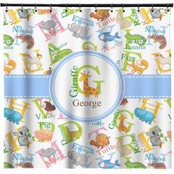 Animal Alphabet Shower Curtain (Personalized)