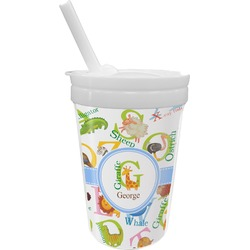 Animal Alphabet Sippy Cup with Straw (Personalized)