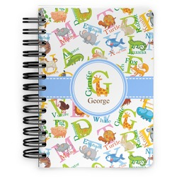 Animal Alphabet Spiral Bound Notebook - 5x7 (Personalized)