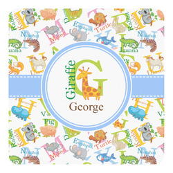 Animal Alphabet Square Decal - Medium (Personalized)