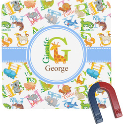 Animal Alphabet Square Fridge Magnet (Personalized)