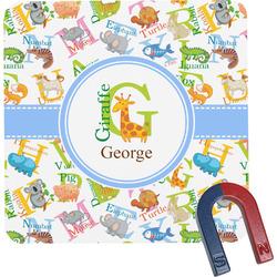 Animal Alphabet Square Fridge Magnet (Personalized)