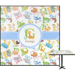 Animal Alphabet Square Table Top (Personalized)