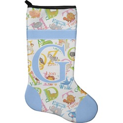 Animal Alphabet Christmas Stocking - Neoprene (Personalized)