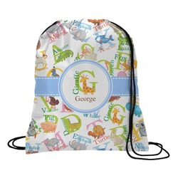 Animal Alphabet Drawstring Backpack (Personalized)