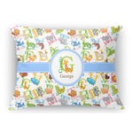 Animal Alphabet Rectangular Throw Pillow (Personalized)
