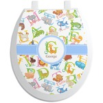 Animal Alphabet Toilet Seat Decal (Personalized)