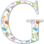 Animal Alphabet Letter Decal - Custom Sized (Personalized)
