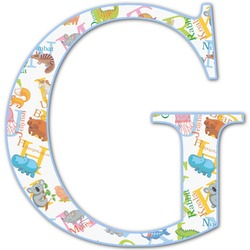 Animal Alphabet Letter Decal - Custom Sizes (Personalized)