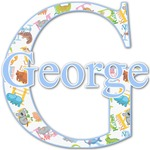 Animal Alphabet Name & Initial Decal - Custom Sized (Personalized)