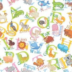 Animal Alphabet Wallpaper & Surface Covering