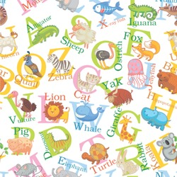 Animal Alphabet Wallpaper & Surface Covering