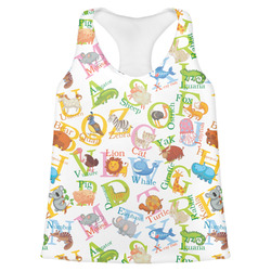 Animal Alphabet Womens Racerback Tank Top (Personalized)