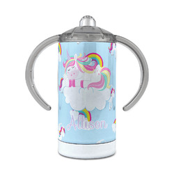 Rainbows and Unicorns 12 oz Stainless Steel Sippy Cup (Personalized)