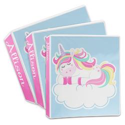 Rainbows and Unicorns 3-Ring Binder (Personalized)