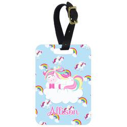 Rainbows and Unicorns Metal Luggage Tag w/ Name or Text