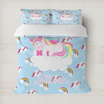 Rainbows and Unicorns Duvet Cover (Personalized)