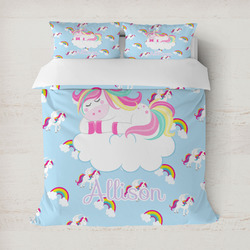 Rainbows and Unicorns Duvet Covers (Personalized)
