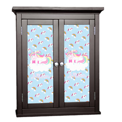 Rainbows and Unicorns Cabinet Decal - Custom Size w/ Name or Text