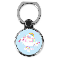 Rainbows and Unicorns Cell Phone Ring Stand & Holder (Personalized)