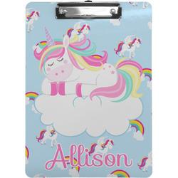 Rainbows and Unicorns Clipboard (Personalized)