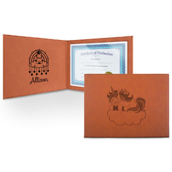 Rainbows and Unicorns Leatherette Certificate Holder (Personalized)