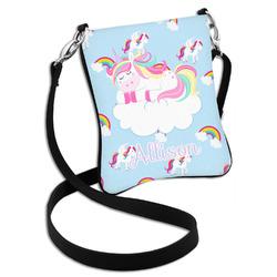 Rainbows and Unicorns Cross Body Bag - 2 Sizes (Personalized)