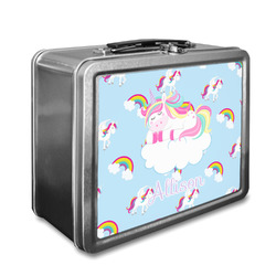 Rainbows and Unicorns Lunch Box w/ Name or Text