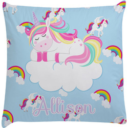 Rainbows and Unicorns Decorative Pillow Case w/ Name or Text
