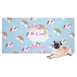Rainbows and Unicorns Dog Towel w/ Name or Text