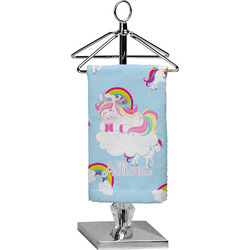 Rainbows and Unicorns Finger Tip Towel - Full Print w/ Name or Text